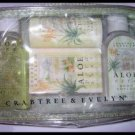 NEW ALOE VERA GEL LOTION SOAP TALC POWDER bath body GREAT BRITAIN - MINI TRAVEL KIT