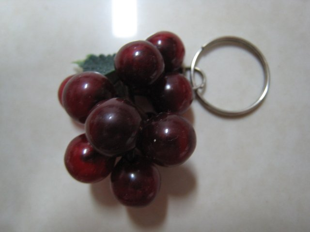 purple grape keychain cute collectible decor gift fruit ornament christmas