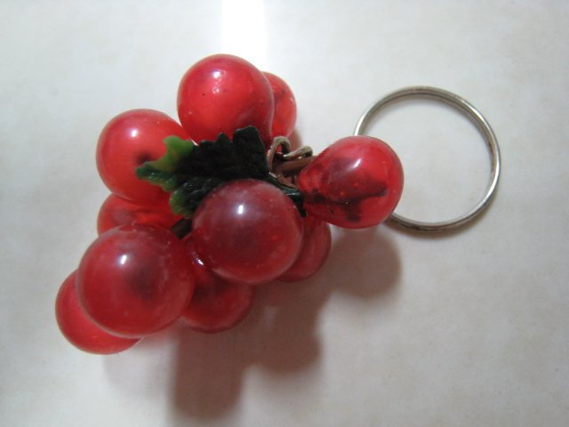 red grape keychain cute collectible decor gift fruit ornament christmas