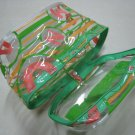 green pink makeup bag clear transparent pouch women's accessory beatuy products