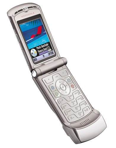 Motorola V3 razr krzr t-mobile silver LK NEW GSM SIM cell phone digital camera bluetooth electronic
