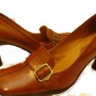 ENZO ANGIOLINI women's BROWN LEATHER office work dress SHOES 8.5 clothing accessory pumps heels