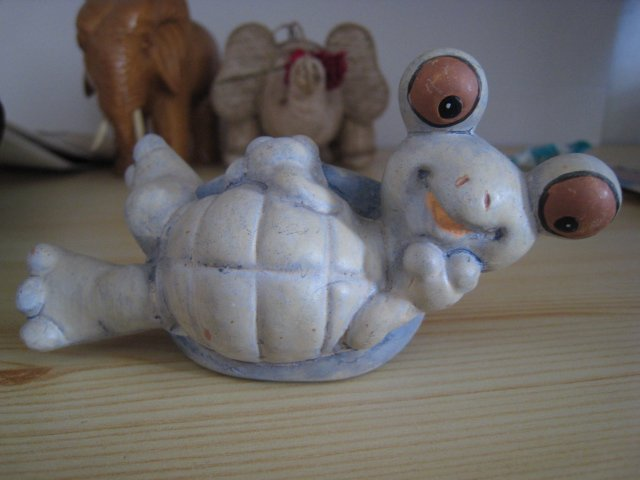 HAPPY TURTLE CLAY FIGURINE DECORATIVE COLLECTIBLE HOME DECOR GIFT TOY