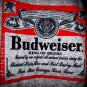 new BUDWEISER sports gray t-shirt shirt top women's men's sz M clothing red gift NFL football
