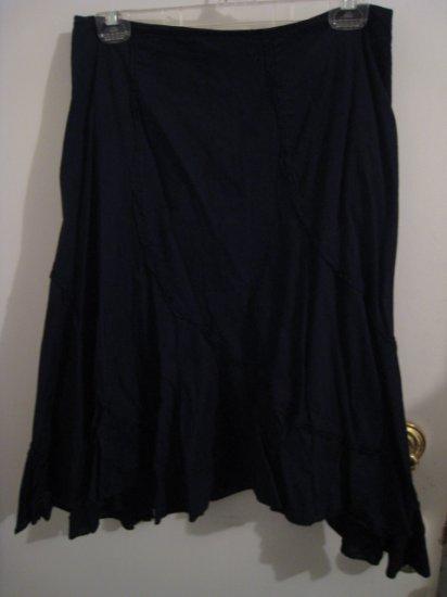 FLIRTY BLACK SKIRT DRESS OFFICE WOMEN'S CLOTHES JUNIOR'S CLOTHING COTTON A-LINE