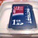 sd secure card camera digital 1GB patriot memory mp3 canon electronic accessory