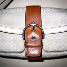 AUTHENTIC COACH WHITE SIGNATURE LEATHER BAG purse handbag women&#39;s accessory cute!