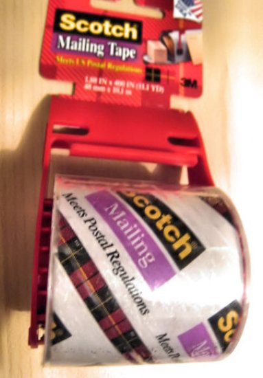 LOT OF 12 scotch clear mailing tape 11.1 yd BLADE CUTTER AND DISPENSER INCLUDED office supply
