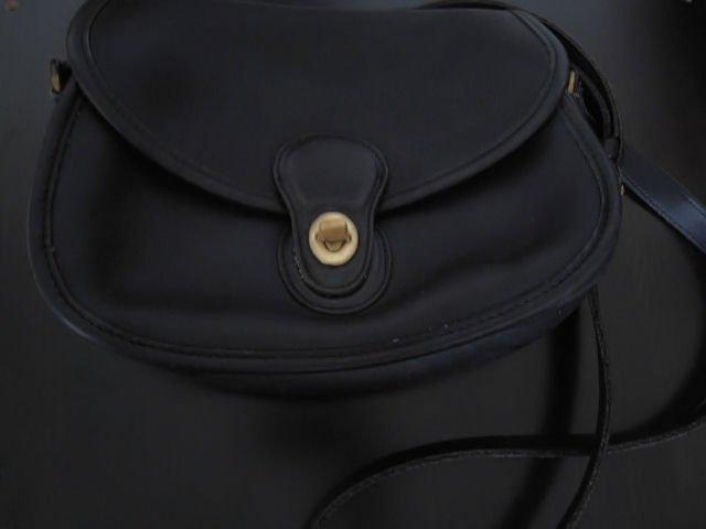 AUTHENTIC COACH BLACK LEATHER VINTAGE CLASSIC SO CUTE WOMEN'S HANDBAG PURSE BAG