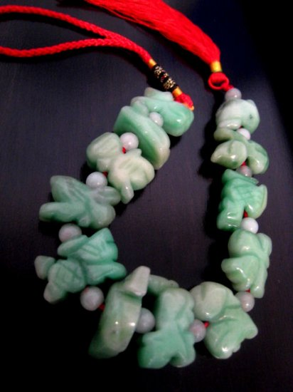 JADE STONE 12 ANIMALS chinese zodiac home decor jewelry curtain hanger bracelet