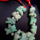 JADE STONE 12 ANIMALS chinese zodiac home decor jewelry curtain hanger bracelet
