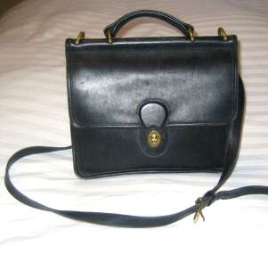 AUTHENTIC COACH BLACK WILLIS STATION BAG PURSE HANDBAG GENUINE LEATHER WOMEN'S ACCESSORY