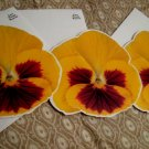 blank FLOWER CARD CARDS GIFT FLOWERS HOME GARDEN - yellow + FREE CONFETTI scrapbooking