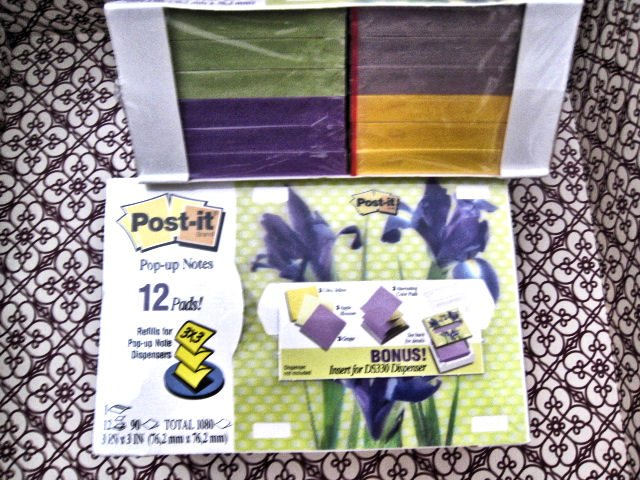 POST-IT POP-UP 12 PADS NOTES DISPENSER PLUS INSERT HOME OFFICE PAPER WRITING MEMO