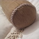 contemporary PILLOW HOME BED DECOR CYLINDER SHAPE SMALL CUTE earthy brown twill 2 tone