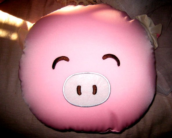 MICRO BEAD BIG LARGE PILLOW PIG CUTE CHILD KIDS' ROOM DECOR BEDDING HOME