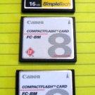 CANON SIMPLETECH COMPACT FLASH MEMORY CARD 16MB DIGITAL CAMERA POWERSHOT ELPH ACCESSORY