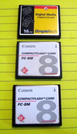 CANON SIMPLETECH COMPACT FLASH MEMORY CARD 16MB DIGITAL CAMERA POWERSHOT ELPH ACCESSORY
