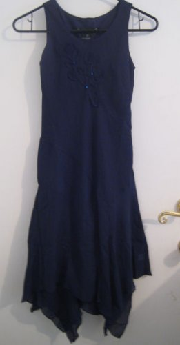 GIRL'S 8 NAVY BLUE DRESS DIAMOND CLOTHES CLOTHING
