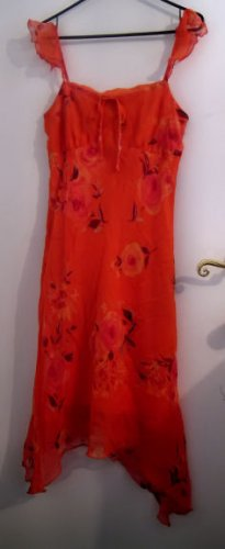 WOMEN'S JUNIOR'S DRESS ORANGE SEXY CLOTHES CLOTHING CHIFFON