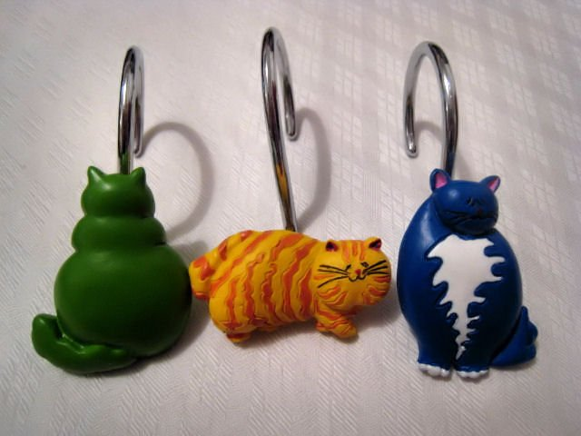 Decorative Knitting Stitch Markers : cats CAT knitting crochet stitch markers ART CRAFTS SUPPLY HOBBY HOME DECORAT...