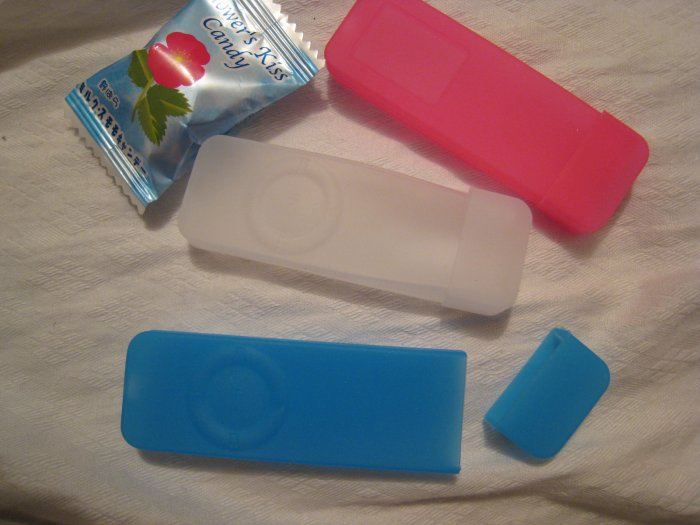 BLUE shuffle skins IPOD shuffle 512MB 1G MODELS  silicone electronic accessory see-thru