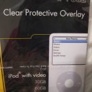 CLEAR PROTECTIVE OVERLAY COVER IPOD VIDEO 30G 60G ELECTRONICS ACCESSORY MP3
