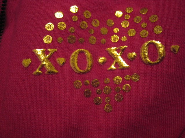 XOXO S GIRL'S 6 ZIP PULLOVER HOODED SWEATER SWEATSHIRT CLOTHES CLOTHING PINK GOLD retail $34