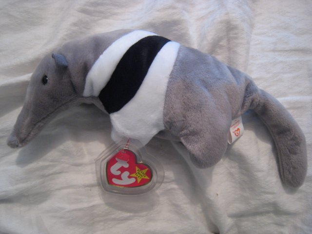 #2 anteater BEANIE BABY DOLL STUFF ANIMAL TOY KIDS CHILDREN HOME GIFT BIRTHDAY