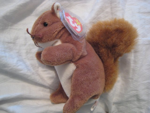 #3 squirrel BEANIE BABY DOLL STUFF ANIMAL TOY KIDS CHILDREN HOME GIFT BIRTHDAY