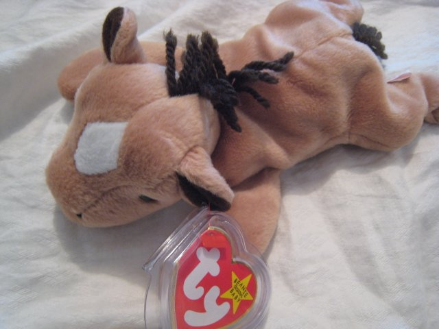 #5 HORSE MULE BROWN BEANIE BABY DOLL STUFF ANIMAL TOY KIDS CHILDREN HOME GIFT BIRTHDAY
