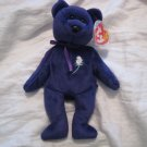 #6 PURPLE PRINCESS DIANA bear BEANIE BABY DOLL STUFF ANIMAL TOY KIDS CHILDREN HOME GIFT BIRTHDAY