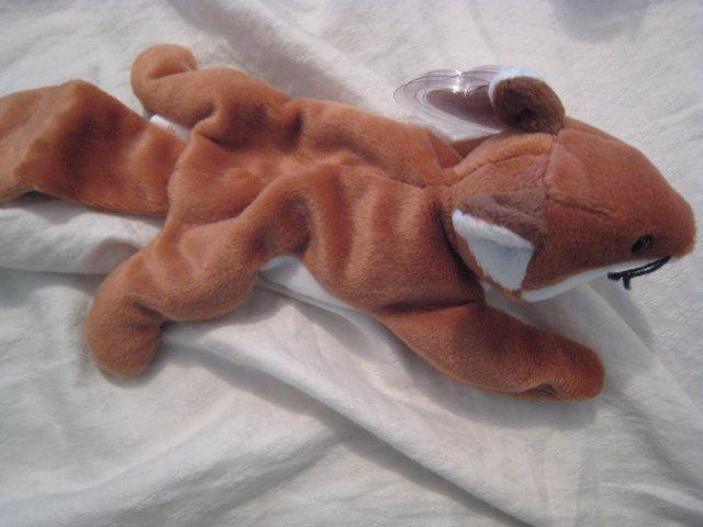 #13 fox dog BEANIE BABY DOLL STUFF ANIMAL TOY KIDS CHILDREN HOME GIFT BIRTHDAY