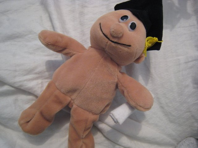 #19 vintage graduation boy BEANIE BABY DOLL STUFF ANIMAL TOY KIDS CHILDREN HOME GIFT BIRTHDAY