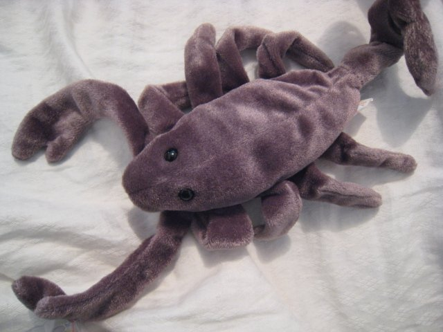 #20 scorpion reptile gray BEANIE BABY DOLL STUFF ANIMAL TOY KIDS CHILDREN HOME GIFT BIRTHDAY