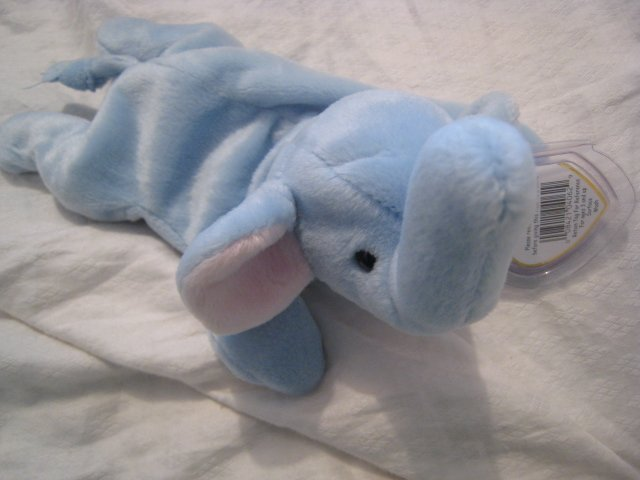 #21 blue elephant BEANIE BABY DOLL STUFF ANIMAL TOY KIDS CHILDREN HOME GIFT BIRTHDAY