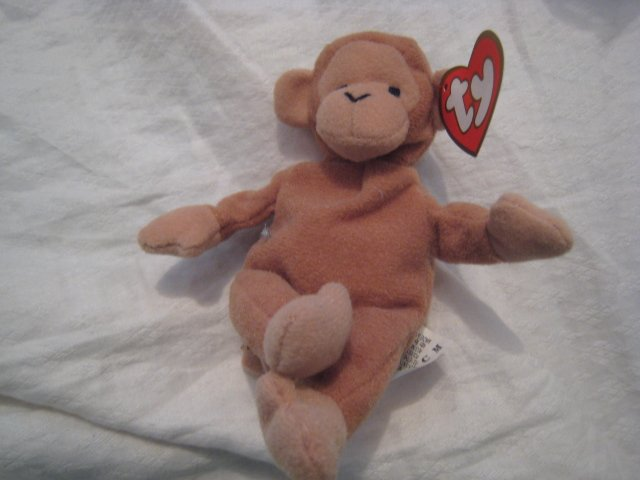 #22 small monkey BEANIE BABY DOLL STUFF ANIMAL TOY KIDS CHILDREN HOME GIFT BIRTHDAY