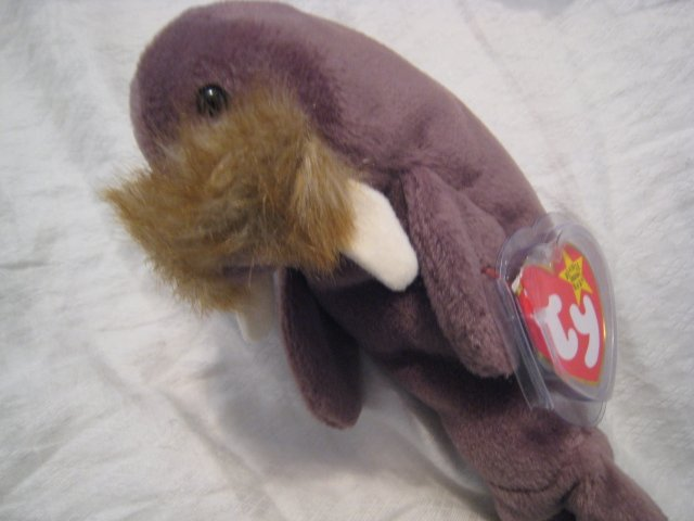 #26 walrus BEANIE BABY DOLL STUFF ANIMAL TOY KIDS CHILDREN HOME GIFT BIRTHDAY