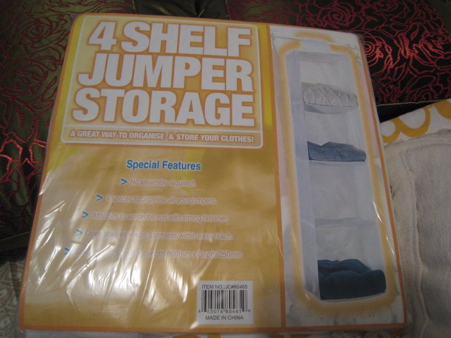 4 shelf jumper storage ORGANIZE CLOTHING HOME CLOSET ACCESSORY
