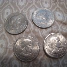 SUSAN B ANTHONY DOLLAR COLLECTIBLES COIN U.S. SET OF 4 HOBBY PAPER MONEY