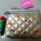 HELLO KITTY GOLD COIN PURSE RHINESTONE BLING WOMEN'S ACCESSORY