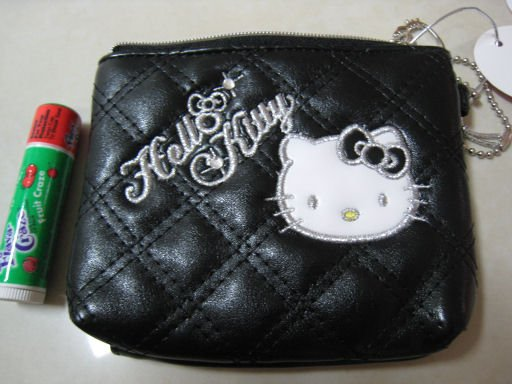 HELLO KITTY black COIN PURSE RHINESTONE BLING WOMEN'S ACCESSORY