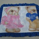 I LOVE YOU BEAR BEARS KIDS BABY LINEN PILLOW PILLOWCASE SHEET BED BEDROOM COTTON SOFT TRIMMING