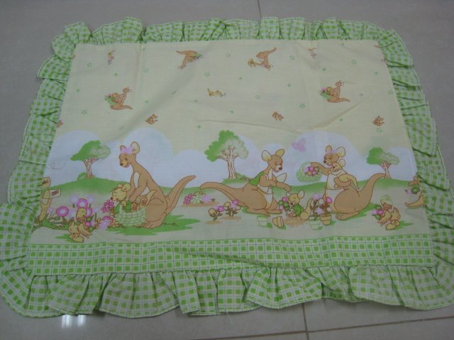 KANGAROO DUCK FLOWER KIDS BABY LINEN PILLOWCASE SHEET BED BEDROOM COTTON SOFT TRIMMING