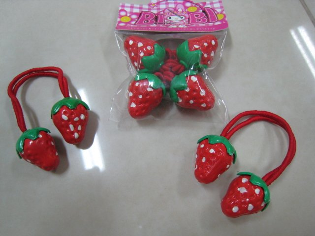 LOT 2 STRAWBERRY KIDS CHILDREN HAIR ACCESSORY HAIR HAIRBAND