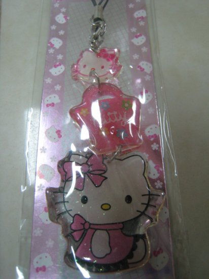 HELLO KITTY HAND charm CELL PHONE DIGITAL CAMERA IPOD I-POD STRAP accessory PURSE ZIPPER KEYCHAIN