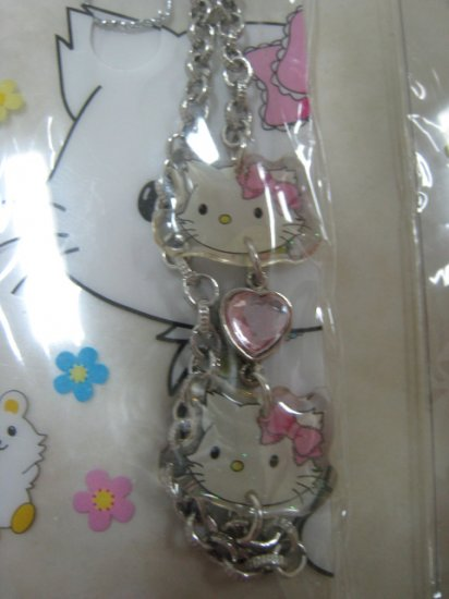 HELLO KITTY diamond strap charm CELL PHONE DIGITAL CAMERA IPOD I-POD accessory PURSE ZIPPER KEYCHAIN