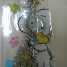 SNOOPY WOODSTOCK diamond strap charm CELL PHONE DIGITAL CAMERA IPOD I-POD accessory PURSE