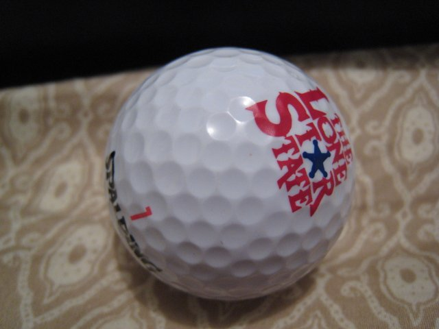 LONE STAR STATE SPALDING - COLLECTOR'S GOLF BALL SPORTS MEMORABILIA DECORATIVE COLLECTIBLE HOME