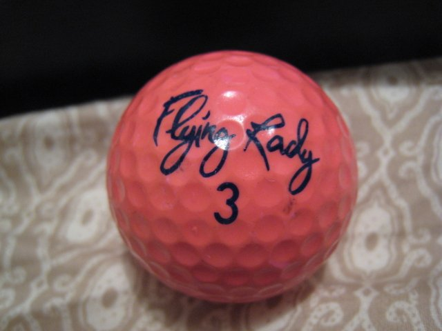PINK FLYING LADY 3 - COLLECTOR'S GOLF BALL SPORTS MEMORABILIA DECORATIVE COLLECTIBLE HOME HOBBY
